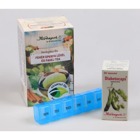 1 doboz Diabetocaps 1 doboz fehér eperfa és fahéj tea