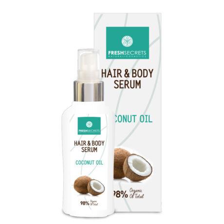 Haj- és testszérum kókuszolajjal - 100 ml